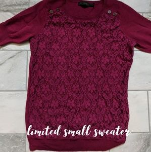 Limited, pink/burgandy sweater